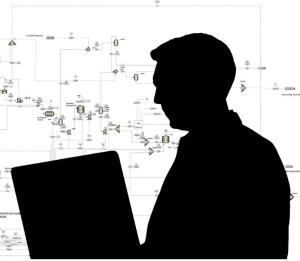 Federal employee silhouette